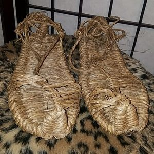 Shoes - Naked & Afraid Woven Costume Shoes w Sea Grass Bag